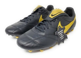 Men's Nike Premier II Kangaroo Leather FG Soccer Cleats Shoes , Black/Gold - $79.99