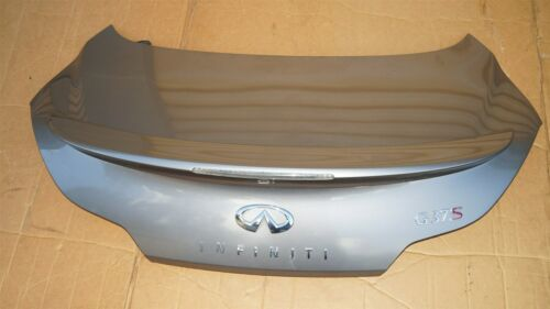 08-13 Infiniti G37 Coupe Rear Trunk Lid Tail Gate W/ Spoiler & Back-Up