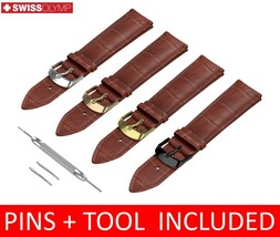 For Longines Watch Brown Leather Strap Band with Buckle 18 19 20 21 22mm - $12.57+