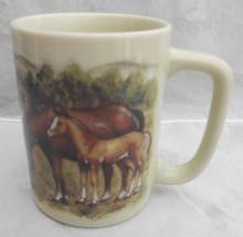 "OTAGIRI HORSES BARN COLT MUG CUP  3 3/4"" TALL JAPAN VINTAGE COFFEE MOUNTAIN - $25.24"