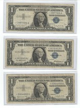 3 - 1957 $1 Dollar Silver Certificate Star Notes - $22.95