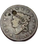 1820 Philadelphia Mint Copper Coronet Head Large Cent - Free Combined S/H - £9.26 GBP