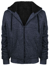 Men's Premium Athletic Soft Sherpa Lined Fleece Zip Up Hoodie Sweater Jacket image 11