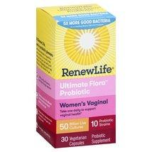 Renew Life - Ultimate Flora Women's Vaginal Probiotic - 30 Vegetarian Ca... - $32.99