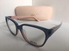 New Elegant LIU JO LJ 2609 LJ2609 456 Blue 52mm Rx Women's Eyeglasses Frame  - $99.99