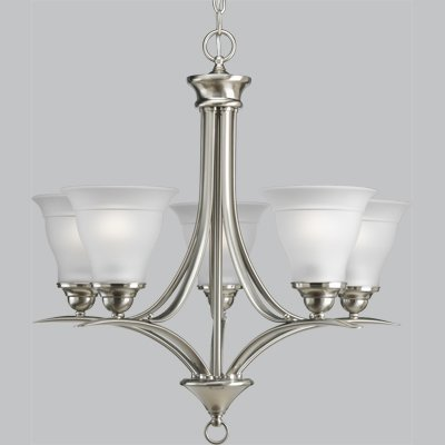 Primary image for Progress Lighting P4328-09 5-Light Trinity Chandelier, Brushed Nickel