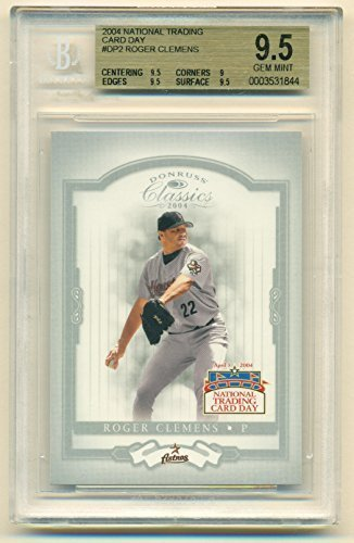 2004 Donruss Classics Roger Clemens #DP-2 National Trading Card Day BVG 9.5 Gem