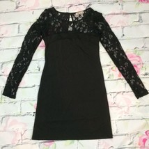 Forever Black Lace Dress Size Small Goth Punk Fashion Keyhole Back Made ... - $23.70