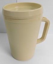 Vintage Ivory Aladdin Insulated Travel Thermal Mug Cup 22 oz Tan - $18.69