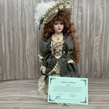 Duck House Heirloom Porcelain Doll Size 20 In Peggy Green Lace D18-658 R... - $29.99