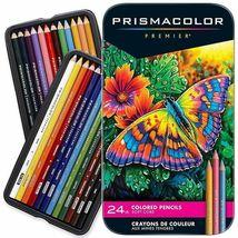 Prismacolor Premier 24 Soft Core Colored Pencils in Tin Box - $26.95