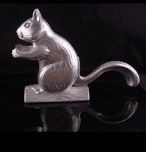 Squirrel nutcracker - vintage metal kitchen gift - animal lover gift - novelty n - $65.00