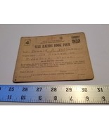 Home Treasure 255211 War Ration Book Four Coupons Biddeford Maine Donald... - $18.99