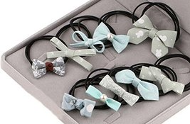Beautiful Bow Hair Rope Cloth Headband Rope Hair Accessories Hair Ring,10 Pcs