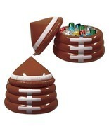 "Inflatable Football Game Novelty Day Cooler with Lid 23"" x 26"" - £31.60 GBP"
