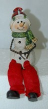 Delton Products 5007 4 Snowman Green Scarf Shelf Sitter 4 Inch image 2