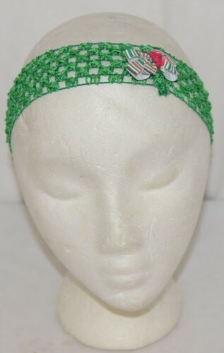 Unbranded Girl Infant Toddler Headband Removable Hair Bow Green