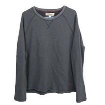 Tommy Bahama Mens Long Sleeve Shirt Gray Men's 2XL Ribbed Knit Crew Neck - $14.81