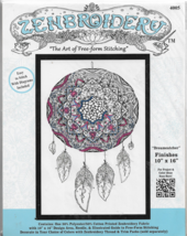 "ZENBROIDERY The Art of Free-form Stitching-Dreamcatcher-Finished Sz 10"" ... - $9.46"
