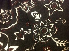 Cynthia J Black Skirt w White/Red Floral Design Sz 1X image 7