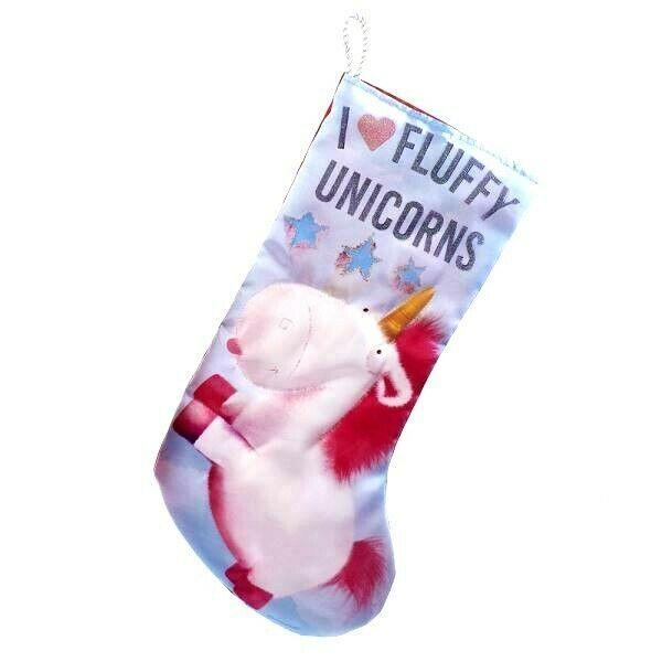 "Kurt Adler Despicable Me I Heart Fluffy Unicorns Minions 19"" Christmas Stocking"