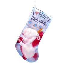 "Kurt Adler Despicable Me I Heart Fluffy Unicorns Minions 19"" Christmas Stocking image 1"
