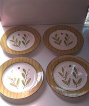 "Cambridge Potteries Luncheon Plates 8"" Acorn w/ Greenery Lot of 4 - $14.99"