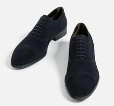 Handmade Men fashion suede shoes, Men navy blue suede dress shoes, Mens footwear - $169.99