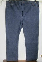 WRANGLER NWOT RIGID UNWASHED BLUE JEANS W52 L34 100% Cotton Fits Over Bo... - $22.50