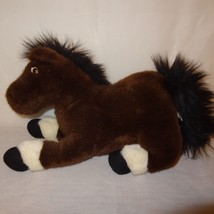 "Horse Pony Brown White Stuffed Animal 15"" Plush Toy Plushland - $14.89"