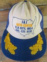 J&J Auto Center Elk City Oklahoma Vintage Trucker Snapback Adult Hat Cap - £21.45 GBP