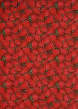 Strawberries Fruit Strawberry Kitchen Food Cotton by The Yard - $23.56