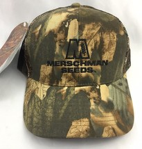 Merschman Seeds Camo Baseball Cap Hat Realtree Camouflage Mesh Mens NWT ... - $16.79