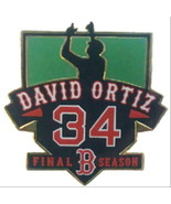"BOSTON RED SOX DAVID ORTIZ ""BIG PAPI"" FINAL SEASON PIN - $9.75"