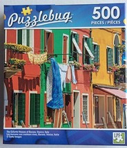 Puzzlebug The Colorful Houses Of Burano, Venice, Italy Jigsaw Puzzle 500... - $9.16