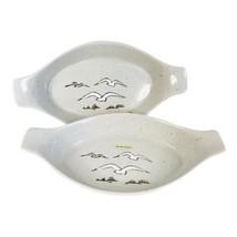 2 OTAGIRI Au Gratin Casseroles Seagulls Speckled Stoneware Vintage MCM J... - $29.99