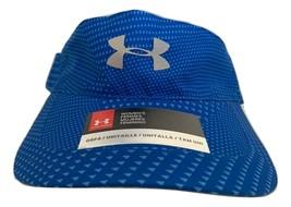 NEW! Under Armour Women's HeatGear Visor-Blue Printed/Reflective Silver ... - $46.48