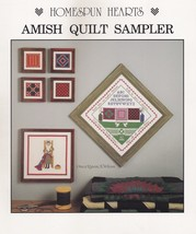 Amish Quilt Sampler, Homespun Hearts Cross Stitch Pattern Booklet  - $2.95