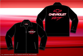 Authentic Chevrolet Racing Mechanic Cotton Printed Jacket JH Design New - $65.00