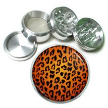Animal Prints D5 63mm Aluminum Kitchen Grinder 4 Piece Herbs Orange Leopard - $13.81