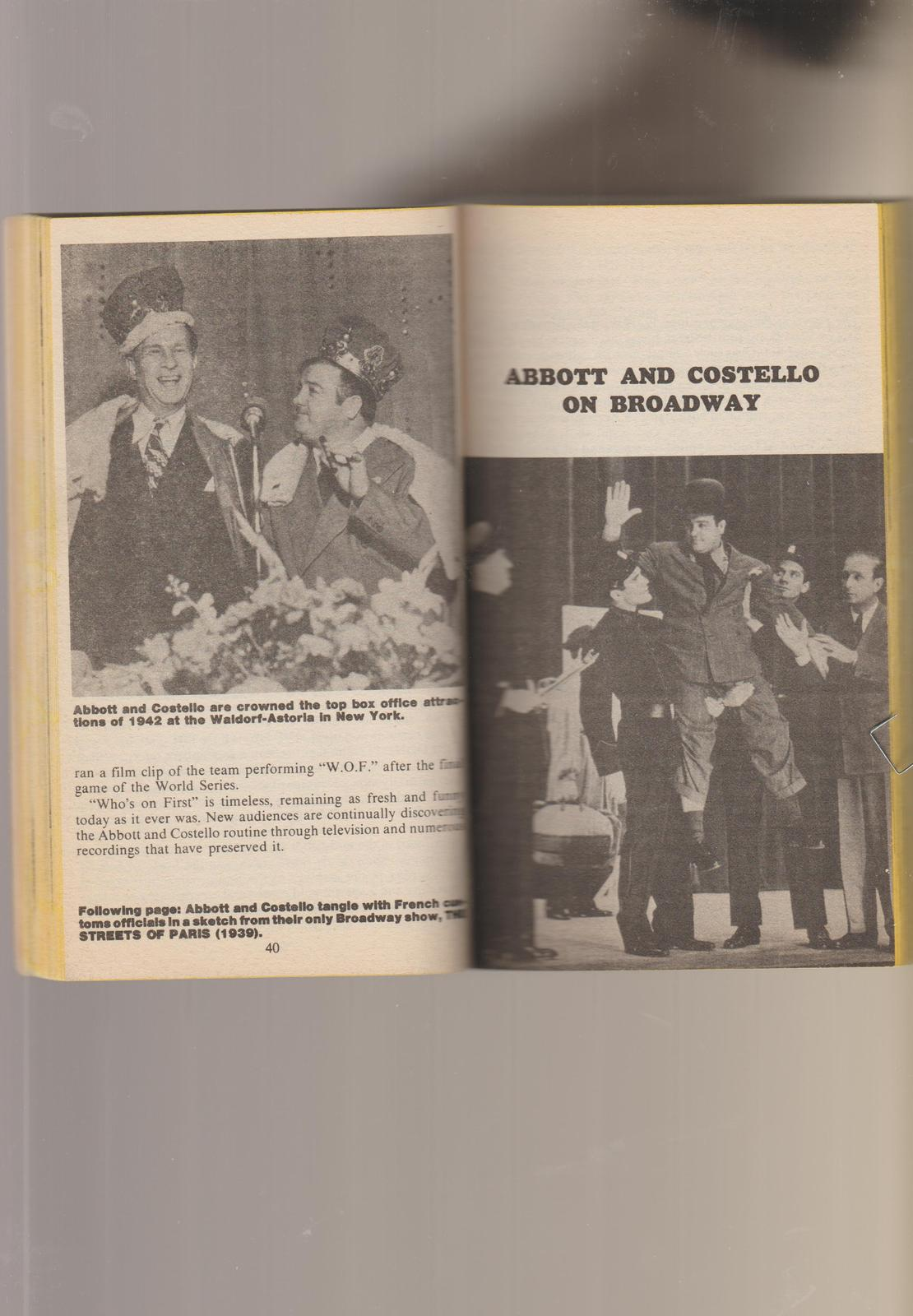 Abbott & Costello Book 1977 1st pb movies & more illustrated