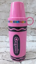 2006 Pink Crayola Crayon Insulated Thermos Container School Lunch Cup - $17.32