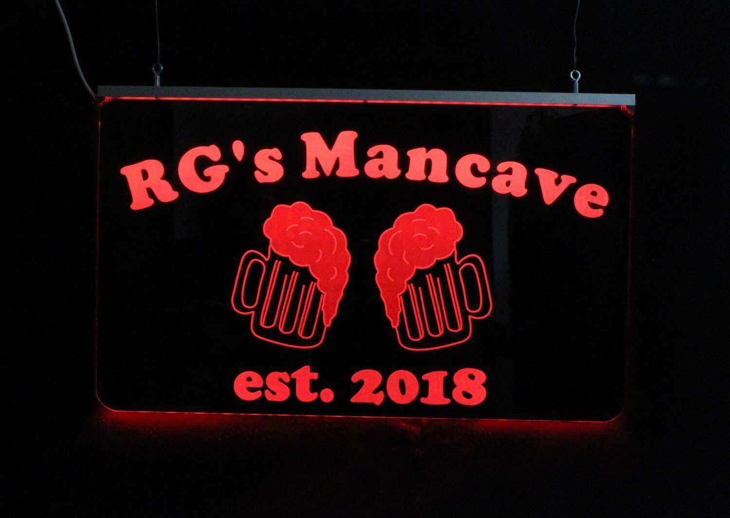 Personalized Beer Mug Bar Sign, Man Cave Sign, Game Room Sign
