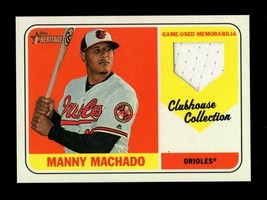 2018 TOPPS HERITAGE CLUBHOUSE COLLECTION MANNY MACHADO JERSEY ORIOLES - $3.99
