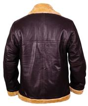 Dunkirk Farrier Tom Hardy Fur Shearling Aviator Brown Bomber Real Leather Jacket image 5