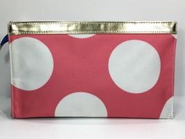 Elizabeth Arden Large Cosmetic Makeup Bag (Pink, White, Blue, gold) - $6.75