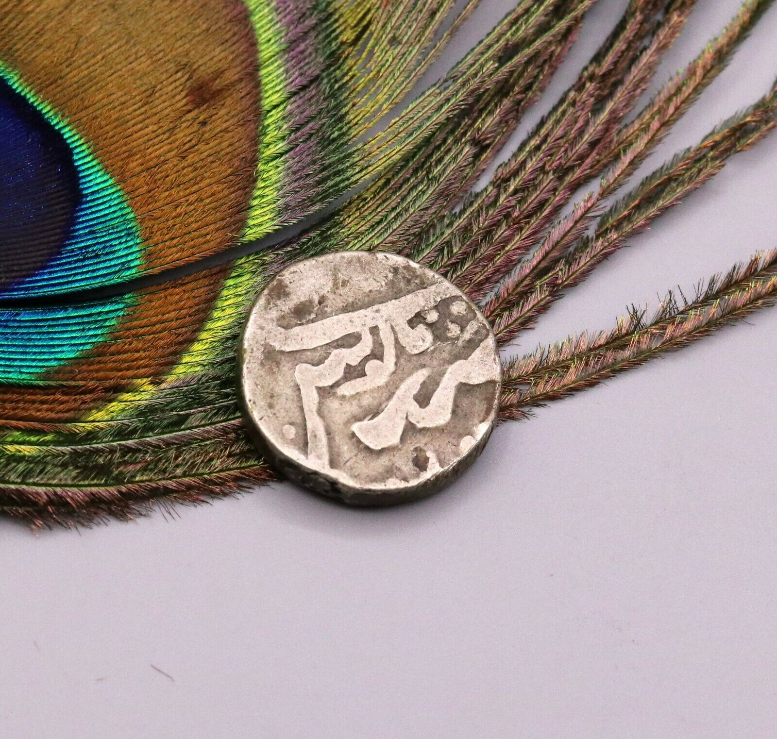 OLD HANDMADE ANCIENT VINTAGE SOLID SILVER COIN FOR MAKING ANTIQUE JEWELRY  cn07
