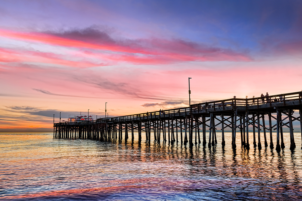 Balboa Pier Sunset at Newport, Fine Art Photos, Paper, Metal, Canvas Prints