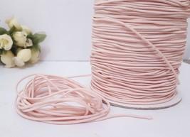 1.5mm wide - 5 yds - 10 yds Lt Pink /Nude Elastic Thread Round Elastic C... - $4.99+