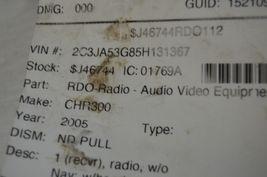 2005-2010 CHRYSLER 300 RADIO CD PLAYER OEM RADIO P05064030AN TESTED H61#030 image 7